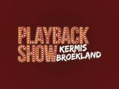 Playbackshow  retro oldskool glow logo event playbackshow