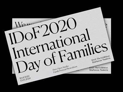 IDoF2020 Invitation art direction graphic designer typeface typographic typography graphic design georgiaharizani
