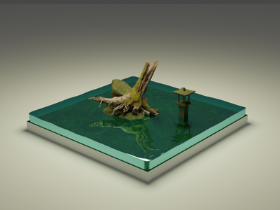 Swamp Environment minimal art design illustration design 3d design 3d art 3d