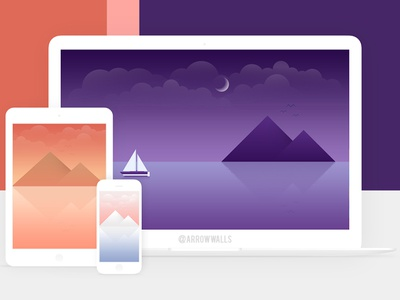 Free Wallpaper #09 wallpaper natural simple tablet mobile minimal illustration free flat design abstract 8k 4k