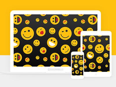 Free Wallpaper #10 black yellow mobile wallpaper minimal illustration free flat design abstract 8k 4k emoji
