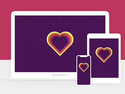 Free Wallpaper #17 dark heart simple mobile wallpaper minimal illustration free flat design abstract 8k 4k