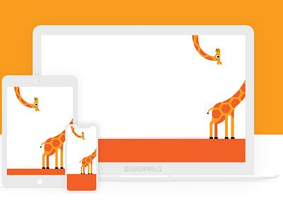 Free Wallpaper #20 animal orange simple mobile wallpaper minimal illustration free flat design abstract 8k 4k