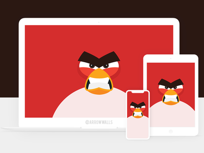 Free Wallpaper #21 angrybird angry red black simple mobile wallpaper minimal illustration free flat design abstract 8k 4k