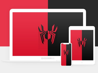 Free Wallpaper #22 superhero spiderman simple mobile wallpaper minimal illustration free flat design abstract 8k 4k