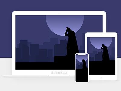 Free Wallpaper #23 superheroes batman black simple mobile wallpaper minimal illustration free flat design abstract 8k 4k