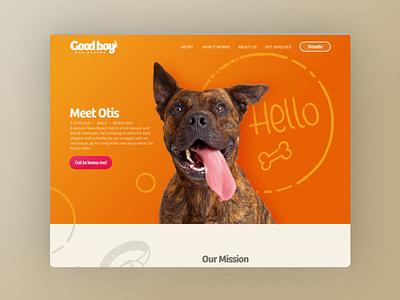Good Boy--Landing page landing page design hand drawn dogs ui design logo web design ui