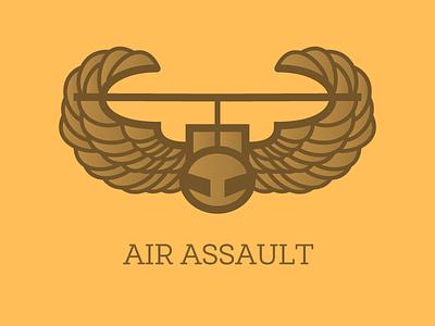 Air Assault air assault proud vet veterans motivation branding bagde illustration iconography just for fun pixel-perfect icon