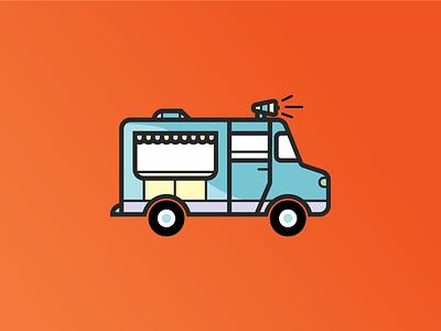 Icecream Man simple tasty treat ice cream truck love flat illustration iconography just for fun pixel-perfect icon