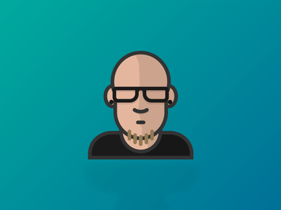 Jecl— Rocking the new specs icon pixel-perfect just for fun iconography illustration flat avatar simple people