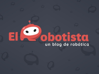 El Robotista illustrator identity icon typography flat vector logo illustration design branding
