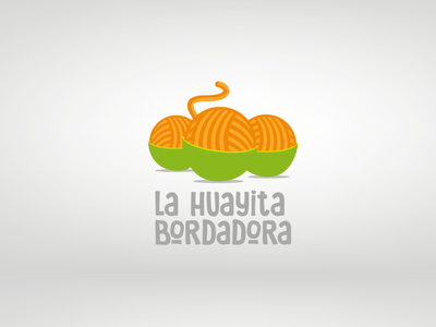 La Huayita Bordadora illustrator identity icon flat typography vector logo illustration design branding