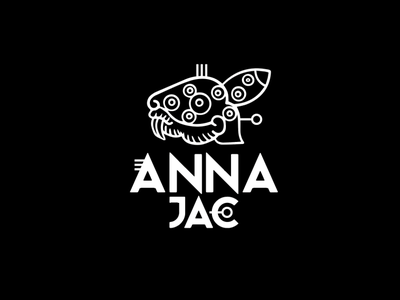 Anna Jac illustrator identity icon typography flat vector logo illustration design branding