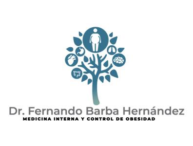 Medicina Interna y Control de Obesidad icon flat typography vector logo illustration design branding