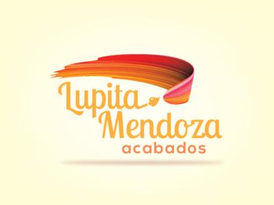 Lupita Mendoza, Pintura sobre cerámica type illustrator identity icon typography vector logo design branding illustration