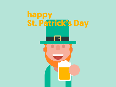 Happy St. Patrick's Day ipad flat design flat green designer leprechaun irish ireland affinity
