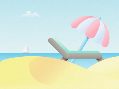 Holidays vacation holidays beach vector flat design illustration designer madeinaffinity affinity designer
