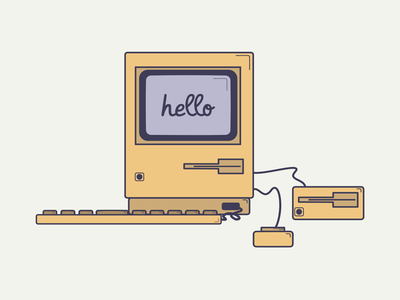 Mac macintosh mac vector flat design designer affinity designer illustration flat design