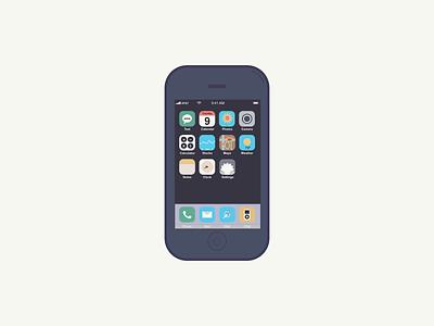 iPhone apple iphone vector color flat affinity designer designer illustration design flat design