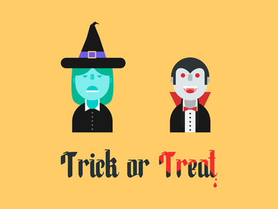 Trick or treat halloween branding vector color ipad flat illustration designer design flat design affinity designer