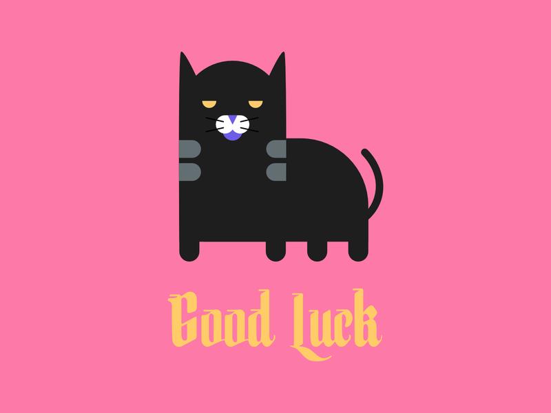 Good Luck halloween pink vector flat illustration designer design flat design affinity designer