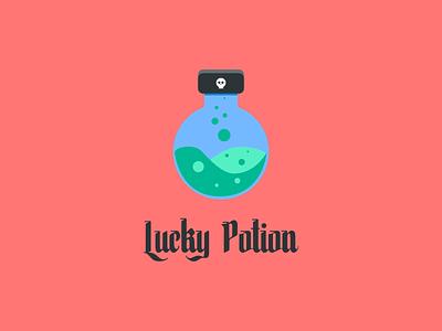 lucky potion lucky potion halloween red design typography illustration designer flat design affinity designer