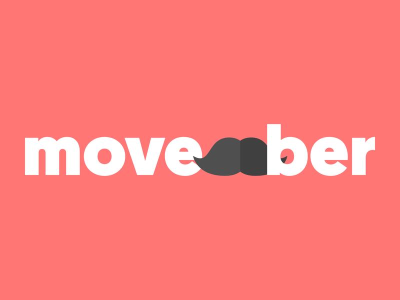 movember logo red logo typography color flat illustration design designer flat design affinity designer