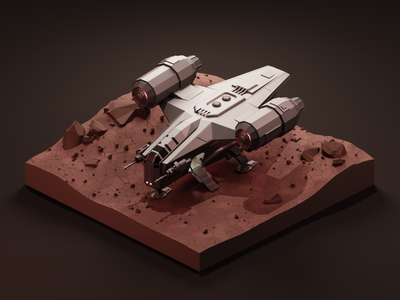 This is the way 3dillustration illustration mandalorian star wars low poly lowpoly diorama isometric illustration isometric art isometric blender blender3d 3d