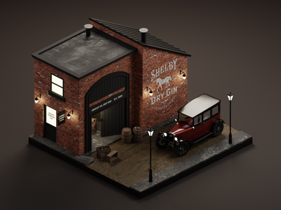 By order of the Peaky Blinders peaky blinders 3dillustration diorama isometric illustration isometric art isometric blender blender3d 3d