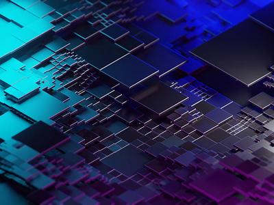Square wave isometric illustration isometric art isometric blender blender3d 3d