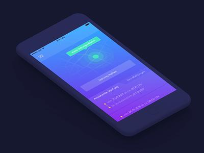 AssistantApp ui gradient location ios app