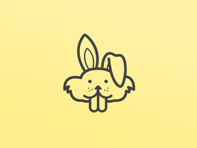 Naughty Bunny rabbit outline naughty bunny icon