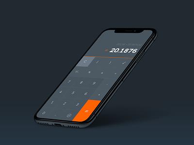 Calculator UI iphonex ui simple app numbers calculator