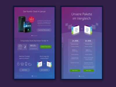 Unitymedia Point of Sale store sales touchscreen digitalsignage pos pointofsale