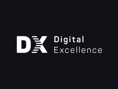 Digital Excellence Logo vector simple typography dx digital brand logo