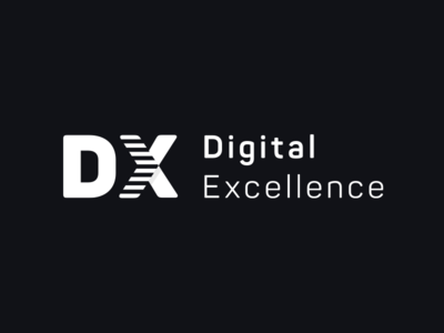 Digital Excellence Logo vector simple typography dx digital brand logo