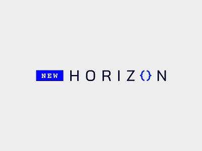New Horizon identity branding developer brand logo