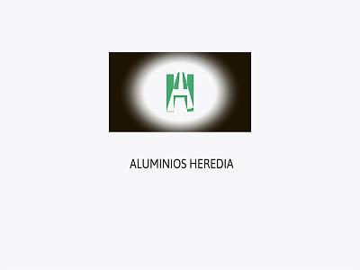 Aluminios Heredia pantalla rgb impreso print designs graphicdesigns branding logotype logo