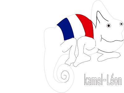 Kamel-Léon pantalla rgb impreso print designs graphicdesigns branding logotype logo