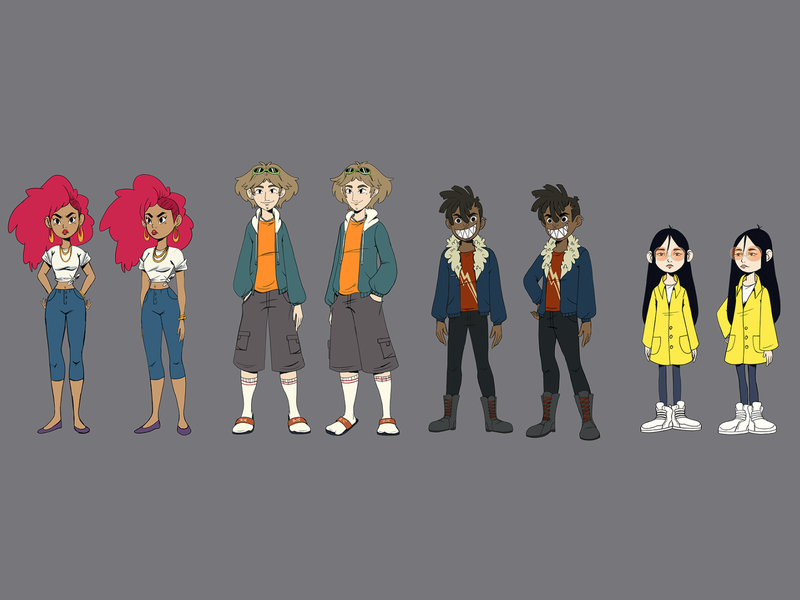 personajes lineup characterdesign lineup characters