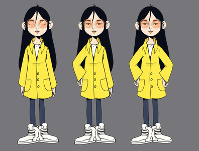 yuko 1 character design illustration