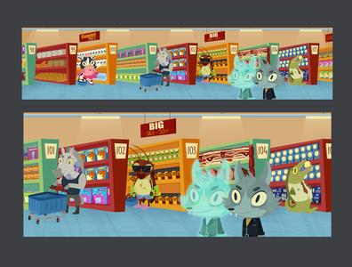 Market Background background art illustration