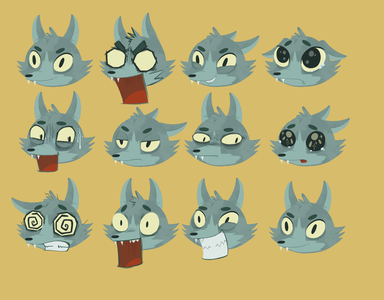 Wolf expressions illustration character design