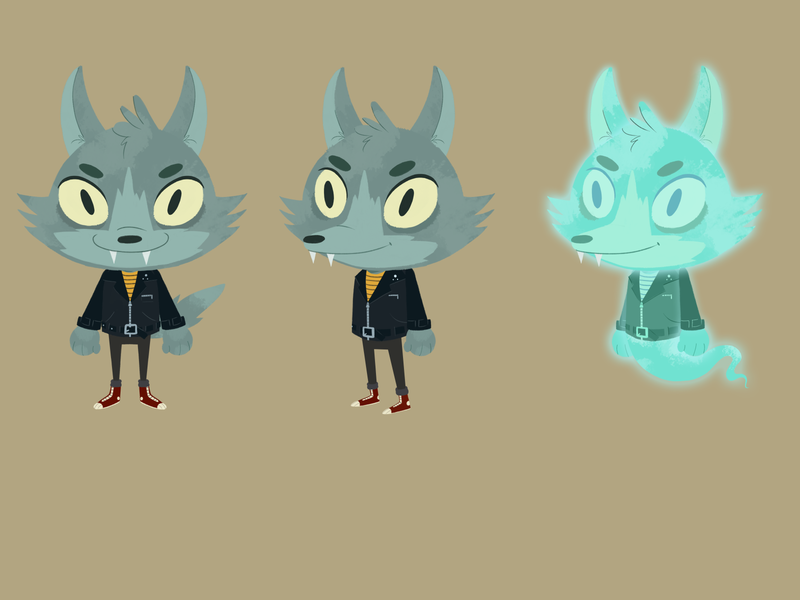 wolf design character design illustration