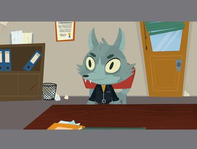 background office illustration background art