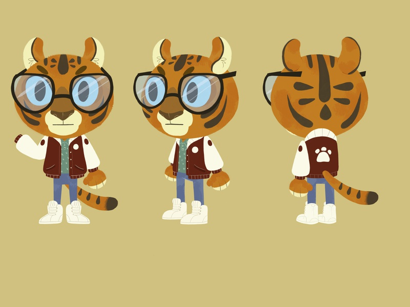 tiger design characterdesign illustration