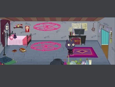 magic room Background background art illustration