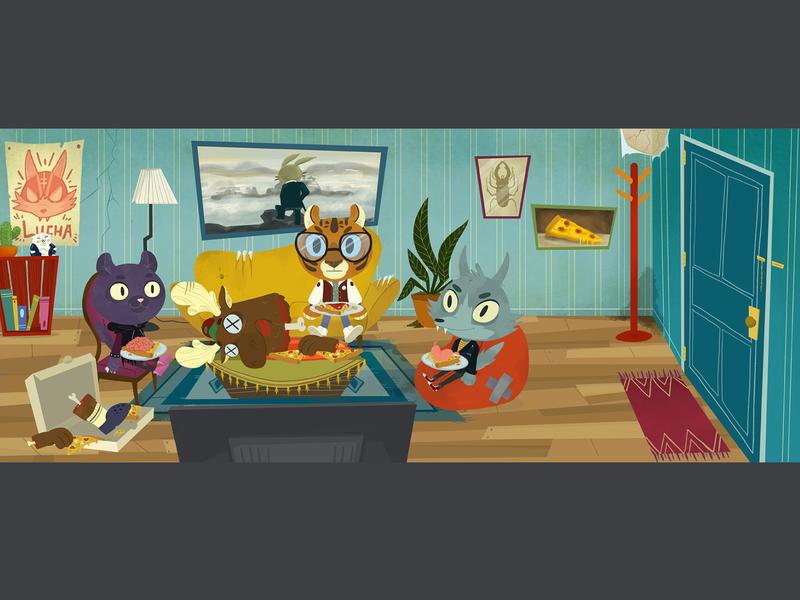 scene 02 background art illustration