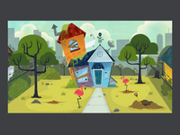 house backgrouns background art illustration