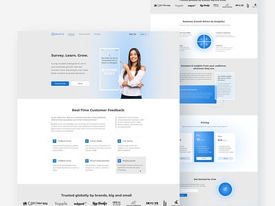 Survey. Learn. Grow website design web design page leaning webdesign
